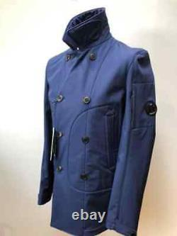 BNWT CP Company Soft Shell MGT jacket in blue. Size 52 (XL). P2p 22