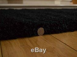 Black Small Extra Large Size 5cm Soft Thick Pile Plain Shaggy Long Runner Rugs