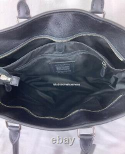 COACH Perry Metropolitan Business Tote Black Leather Duffle F54758 Laptop Tablet