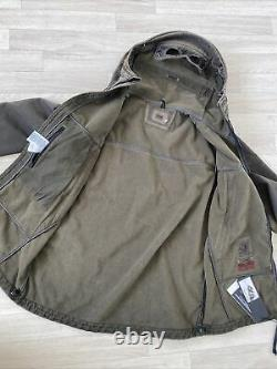 CP Company Soft Shell Goggle Jacket Brown Aged Re-colour 52 XL CP Coat CP Jacket