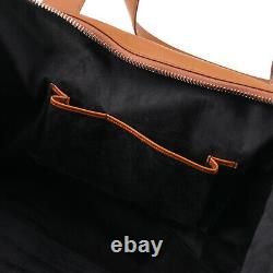 Canali Extra-Large Soft Tan Leather Carry-All Weekender Duffle Bag NWT $1950
