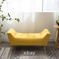 Chesterfield Chenille Window Seat Extra Large Footstool Chair Rest Bench Lounge