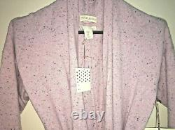 Cynthia Rowley Luxurious 2-Ply Cashmere Pink Speckled Belted Cardigan Robe XL
