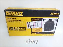 DEWALT DCHJ075B-XL Quilted Heated Soft Shell Jacket, Black, X-Large, Bare NEW