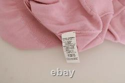 DOLCE & GABBANA Top Wool Pink Floral Embroidered Blouse IT46/ US12 /XL RRP $1300