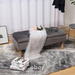 Extra Large Bedroom Storage Ottoman Box Stool Bed End Bench Chair Velvet Tufted