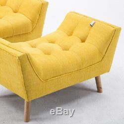 Extra Large Chenille Armchair Recliner Sofa Chair Chesterfield Pouffe Footstool