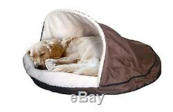 Extra Large Plush Fleecy Pet Cave 90cm Soft Bed Large Dog Removable Top