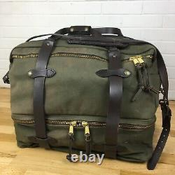 Filson Extra Large Outfitter Duffle Bag 239 Talon zip Olive Green Canvas Travel