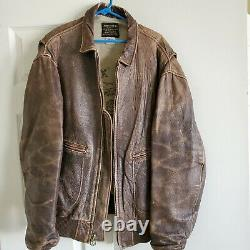 Flight Jacket, Leather G-2, Leather, Worn Buttery Soft Great Patina