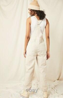 Free People Overall Oversize Relaxed Iris Soft Corduroy Ivory We The Free XL NEW