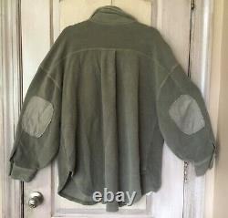 Free People Ruby Jacket Soft Oversize Button Elbow Patch Dirty Olive XL NWT