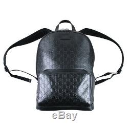 Gucci Signature Leather Backpack In Black RRP £1550 SOLD OUT WORLDWIDE