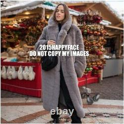 H&m Aw2019 Trend Faux Fur Grey Oversized Soft Coat Sz XL Blogger Fave Sold Out