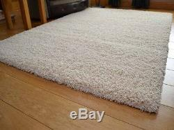 Ivory Cream Small Extra Large 5cm Soft Thick Plain Shaggy Long Runner Rugs Cheap