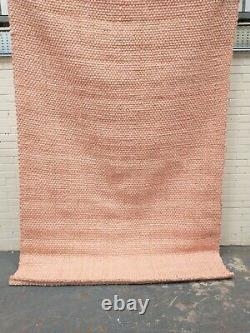 MADE. Com Rohan Living Room Woven Extra Large Soft Pink Jute Rug RRP £249