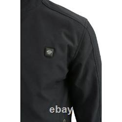 MILWAUKEE LEATHER MENS SOFT SHELL HEATED GREY JACKET with BATTERY PACK SAIK
