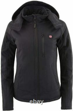 MILWAUKEE LEATHER WOMENS HEATED SOFT SHELL HOODED JACKET with BATTERY PACK SAIG