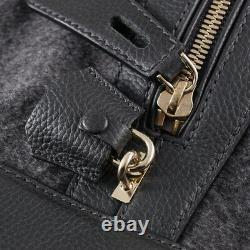 NWT $10,015 BRIONI Monogram Cashmere and Leather Large Weekender Duffle Bag