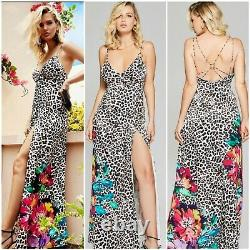 NWT Guess by Marciano SOFT SPOT 100% SILK PRINTED MAXI DRESS SIZE XL