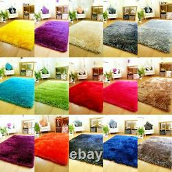 New Extra Large Luxurious Pile Rug Modern Soft Silky Contemporary Shaggy Rugs
