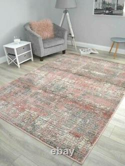 New Pink Grey Living Room Rugs Small Extra Large Marble Floor Carpets Soft Thick