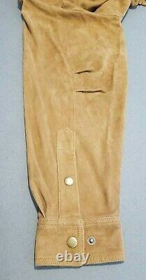 Orvis Men's Suede Leather Shirt Pullover Jacket XL Soft