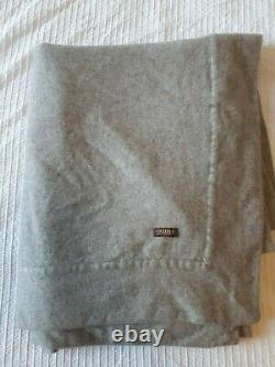 Oyuna 100% Cashmere Throw with border Grey RRP £1,200 Extra Large Soft Throw