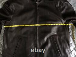 Polo Ralph Lauren Brown Leather Jacket Butter Soft Size XL