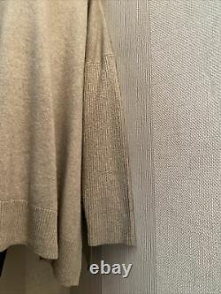 Pure Collection Cashmere Poncho Jumper with Soft Fur Collar Style SizeXL RRP£289