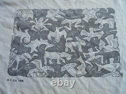 RARE ORIGINAL 1991 MC ESCHER T Shirt PSYCHEDELIC Illusion DOUBLE SIDED III 51