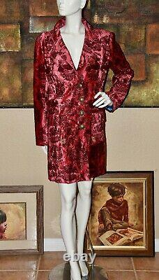 RARE Tracy Porter Tapestry Chinoiserie Style Coat/Jacket Size XL