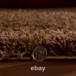 SHAGGY BEIGE RUNNER CIRCLE 5cm THICK RUGS EXTRA LARGE MEDIUM SMALL LIVING ROOM