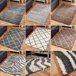 SMALL EXTRA LARGE SOFT SHAGGY 5cm PILE RUGS, GREY, BEIGE MINK. NON-SHEDDING