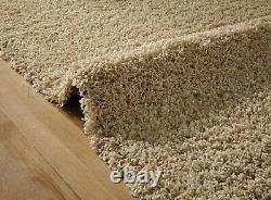 Small Extra Large Light Gold Beige Thick Soft Pile Non-shed Shaggy Shag Rugs