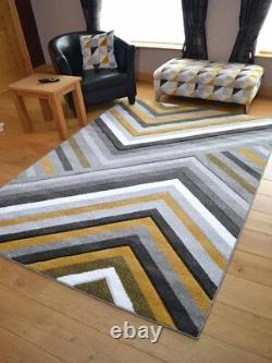 Small Extra Large Size Big Warm Ochre Mustard Gold Modern Soft Thick Rugs Cheap