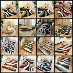 Small Extra Large Thick Soft Pile Rug Modern Shaggy Non Shed Patterned Rugs Mats