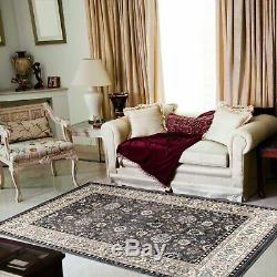 Small Medium Extra Large Rug Designer Carpet Classical Pattern New Soft Grey
