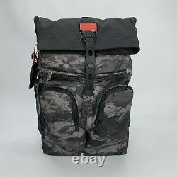 Tumi London Roll Top Backpack Alpha Bravo Collection Charcoal Restoration $495