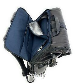 Tumi London Roll Top Backpack Alpha Bravo Collection Distressed Black Leather