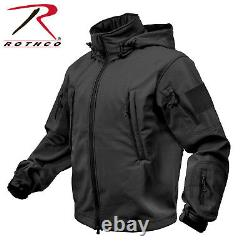 US Special SPEC OPS Softshell Army TACTICAL SOFT SHELL JACKET JACKE Black Large