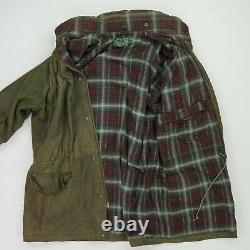 Vintage Ralph Lauren Polo Country (XL) Olive Golf Soft Leather Hooded Lined Coat