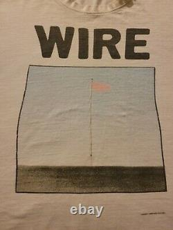 Wire Pink Flag Nice Soft Old Faded Punk Tee Killer Soft XL Punk